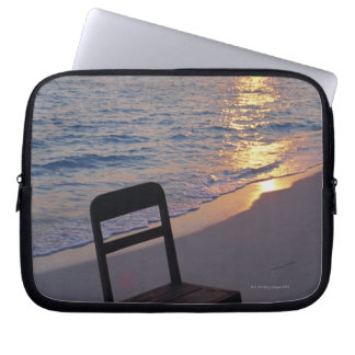 Sandy Beach of Sunset Laptop Sleeve