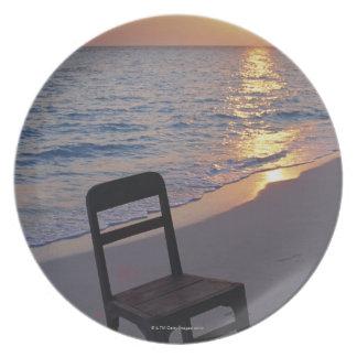 Sandy Beach of Sunset Plate
