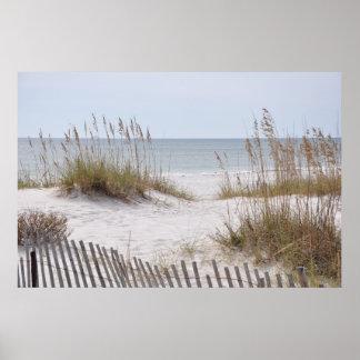 Sandy beach on the Alabama Gulf Coast poster