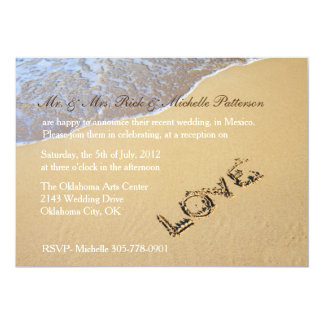 Sandy Beach Post Wedding Reception Invitation