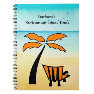 Sandy Beach Retirement Ideas Spiral Notebook