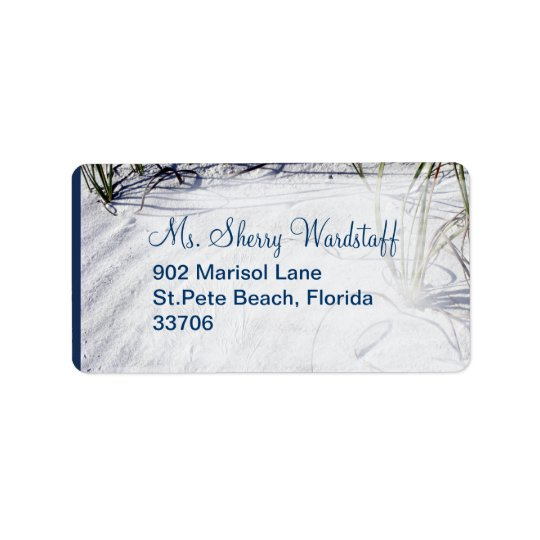 Sandy Beach Wedding 2 Address Label
