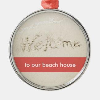 Sandy Beach Writing Christmas Ornaments