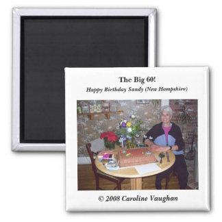 sandy cake,  2008 Caroline Vaughan , The Big 6... Square Magnet