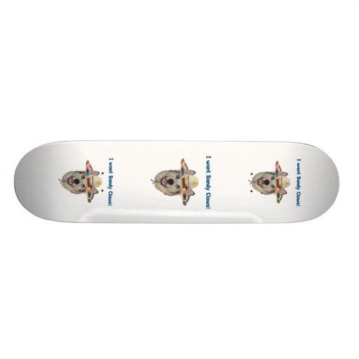 Sandy Claws Beach Dog 21.3 Cm Mini Skateboard Deck