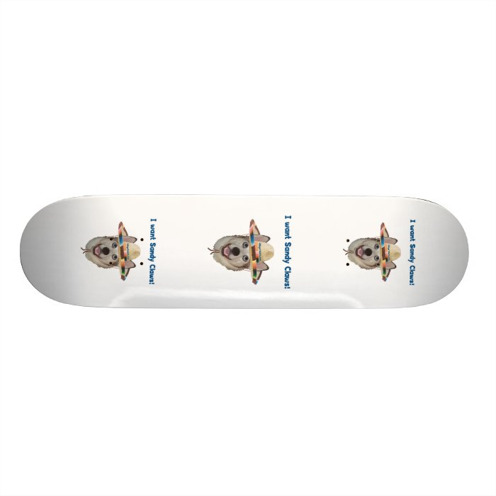 Sandy Claws Beach Dog 21.3 Cm Mini Skateboard Deck