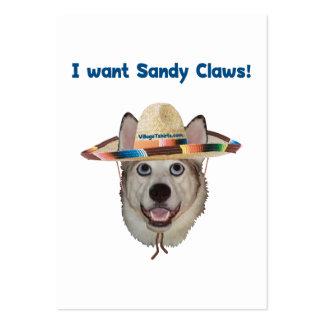 Sandy Claws Beach Dog Business Cards