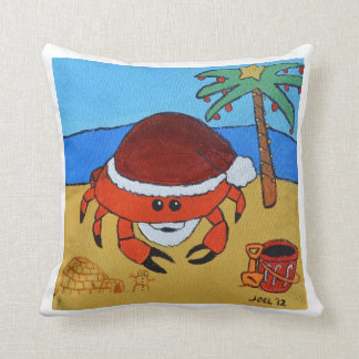 Sandy Claws by Joel Anderson Square Pillow