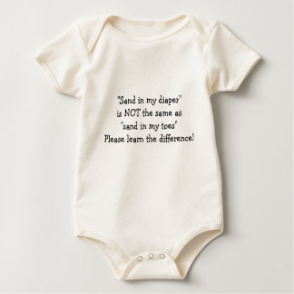 Sandy Diaper Baby Bodysuit