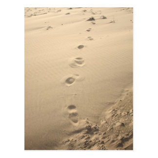 Sandy Footprints Postcard