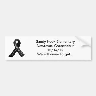 Sandy Hook Elementary Newtown Shooting Memorial Bumper Sticker