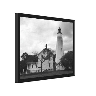 Sandy Hook Lighthouse Stretched Canvas Print