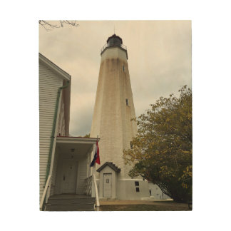 Sandy Hook Lighthouse Wood Canvas