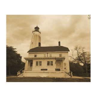 Sandy Hook Lighthouse Wood Canvases