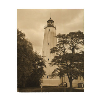 Sandy Hook Lighthouse Wood Prints