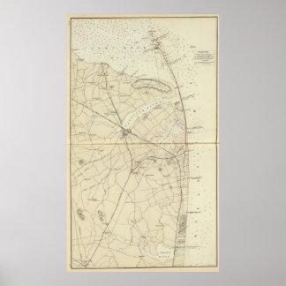 Sandy Hook to Shark River Coast Chart Map Print