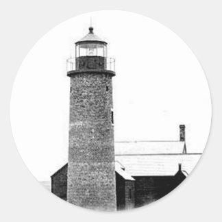 Sandy Neck Lighthouse Round Sticker