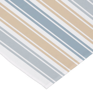 Sandy Sea Stripes Short Table Runner