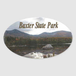 Sandy Stream Pond Oval Sticker