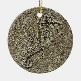 Sandy Textured Seahorse Photograph Christmas Ornament