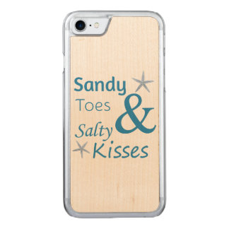 Sandy Toes and Salty Kisses Beach Life Quote Carved iPhone 7 Case