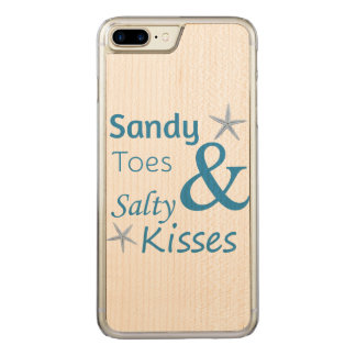 Sandy Toes and Salty Kisses Beach Life Quote Carved iPhone 7 Plus Case