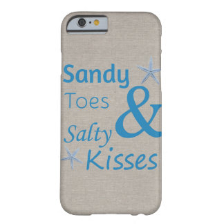 Sandy Toes and Salty Kisses Beach Life Quote Barely There iPhone 6 Case