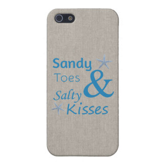 Sandy Toes and Salty Kisses Beach Life Quote Case For The iPhone 5