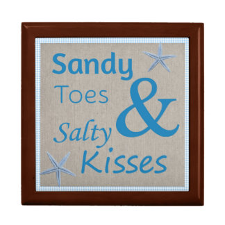 Sandy Toes and Salty Kisses Beach Life Quote Gift Box