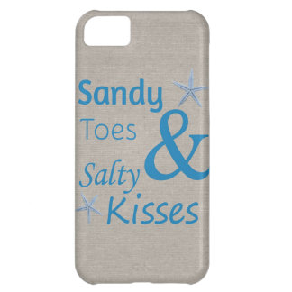 Sandy Toes and Salty Kisses Beach Life Quote iPhone 5C Case
