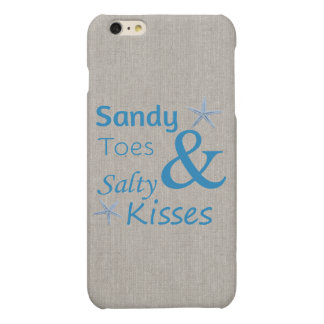 Sandy Toes and Salty Kisses Beach Life Quote iPhone 6 Plus Case