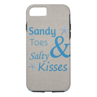 Sandy Toes and Salty Kisses Beach Life Quote iPhone 7 Case