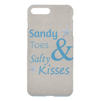 Sandy Toes and Salty Kisses Beach Life Quote iPhone 7 Plus Case