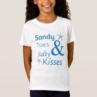 Sandy Toes and Salty Kisses Beach Life Quote T-Shirt