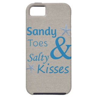 Sandy Toes and Salty Kisses Beach Life Quote Tough iPhone 5 Case