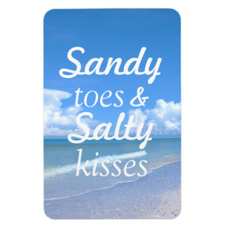 Sandy Toes And Salty Kisses Flexible Magnets