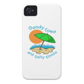SANDY TOES SALTY KISSES iPhone 4 CASE