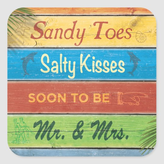 Sandy Toes Salty Kisses Sticker