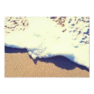 sandy wave 13 cm x 18 cm invitation card