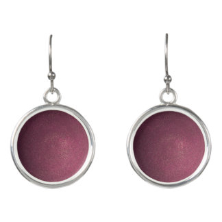 Sandy Wine Circular Drop Earrings
