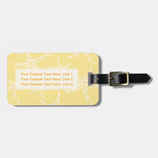 Sandy Yellow and White Starfish Pattern. Luggage Tag