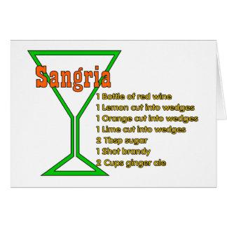 Sangria Card
