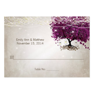 Sangria Heart Leaf Tree Table Place Cards Business Card Template