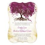 Sangria Heart Leaf Tree Wedding Invites 13 Cm X 18 Cm Invitation Card