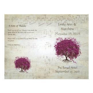 Sangria Heart Leaf Tree Wedding Programs 21.5 Cm X 28 Cm Flyer