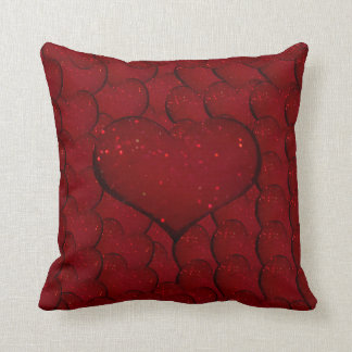 Sangria Hearts Cushion