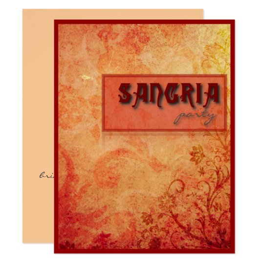 Sangría Party Card