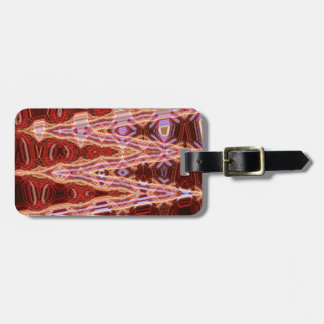 Sanguine Point Luggage Tag with Leather Strap