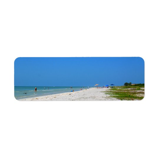 Sanibel Beach Return Address Labels