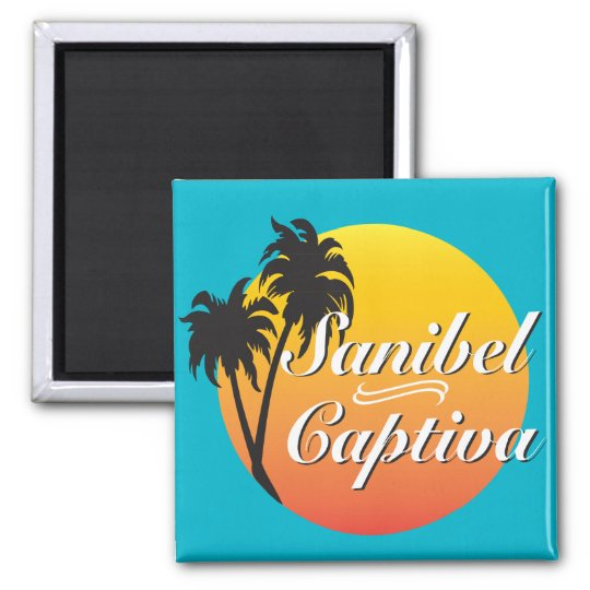 Sanibel Captiva Islands Florida Square Magnet